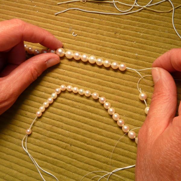 Réparation collier de perles